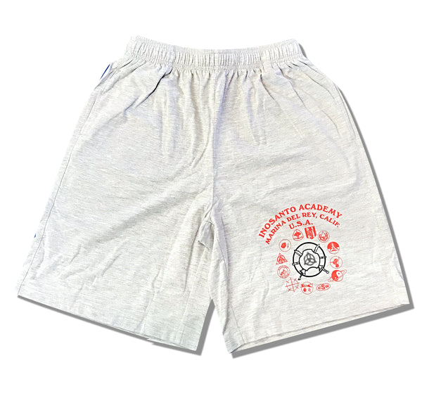 Shorts - Inosanto Academy - Gray with Red & Black Logo