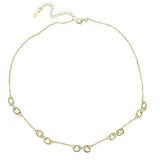 Half Pave Chain Necklace