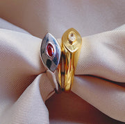 Evil Eye Ring Gold - House of Carats UK