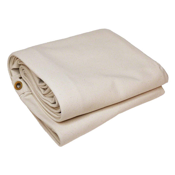 Natural Cotton Canvas Tarps - Untreated