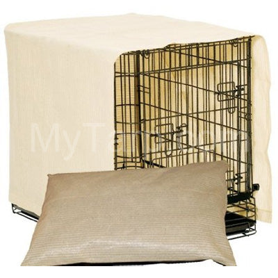 Coolaroo Dog Crate Cover + Dog Pillow Combo - Small - Desert Sand Color