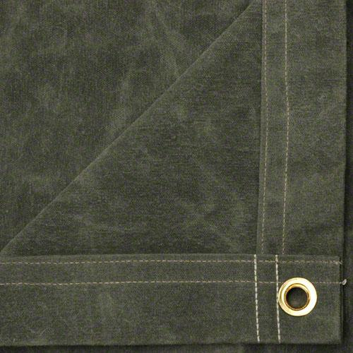 Sigman 6' x 20' Flame Retardant Canvas Tarp - Olive Drab - Made in USA