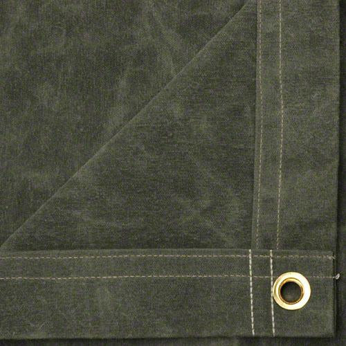 Sigman 16' x 20' Flame Retardant Canvas Tarp - Olive Drab - Made in USA
