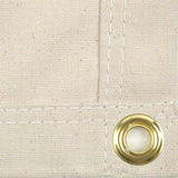 14' x 16' Canvas Drop Cloth With Grommets - Painters Tarp Drop Cloth - 10 oz Natural Cotton - Made in USA