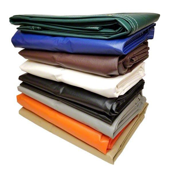 Sigman 8' x 8' 14 OZ Vinyl Coated Polyester Tarp - Made in USA