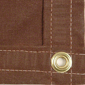 Sigman 6' x 8' Heavy Duty Cotton Canvas Tarp 18 OZ - Brown - Made in USA