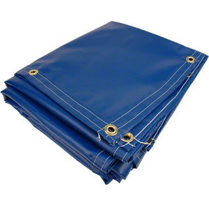 8' x 12' Boat Dock Cover Tarp - 18 oz Vinyl Coated Polyester - Grommet Every 1 ft - Made in USA