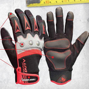 True Grip Heavy Duty Work Gloves With Touchscreen Fingers