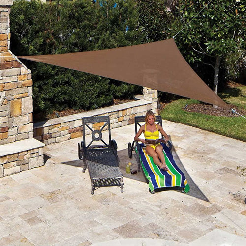 Coolaroo Triangle Shade Sail Ready-to-Hang 11'10