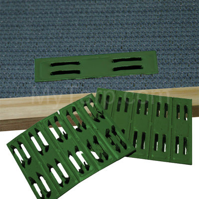 Coolaroo Green Timber Shade Fabric Fasteners (50 Pieces)