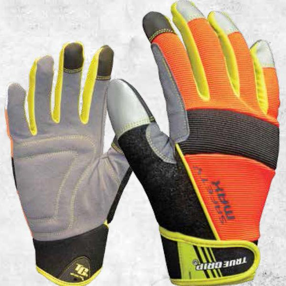 True Grip Safety Max Work Gloves With Touchscreen Fingers
