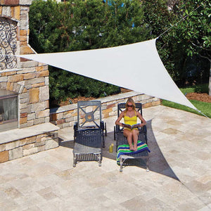 "Coolaroo Triangle Shade Sail Ready-to-Hang 11'10"" Pebble"