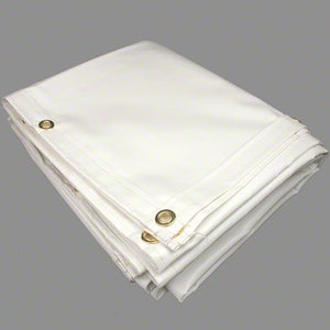 8' x 10' Anti-Static Vinyl Tarp - White Color