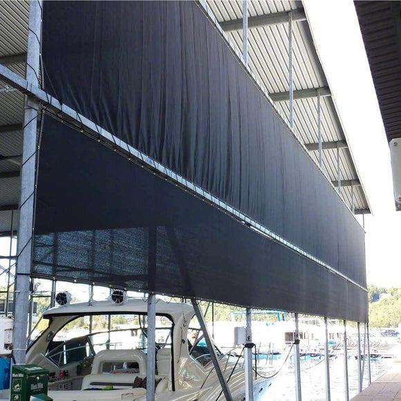 12' x 12' Boat Sun Shade Cover Tarp - Super Shade 86% UV Shading - Grommet Every 1 ft