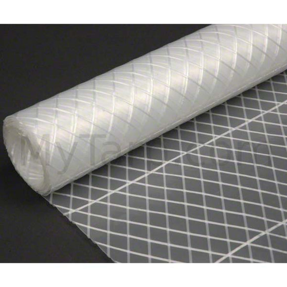 Clear Poly Fabric - 7 oz String Reinforced - Sample Swatch