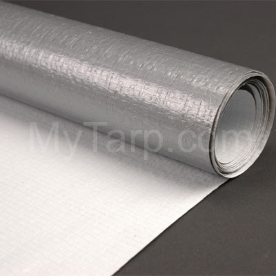 Silver White Poly Fabric - 6' Wide