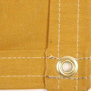 Sigman 12' x 12' Cotton Canvas Tarp 16 OZ - Tan Color - Made in USA