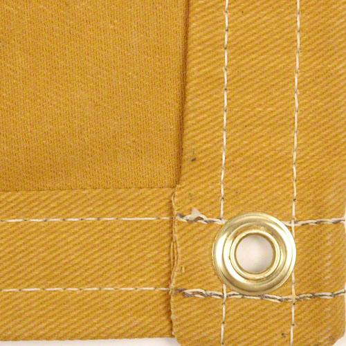 Sigman 6' x 8' Cotton Canvas Tarp 16 OZ - Tan Color - Made in USA