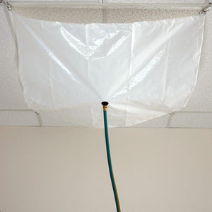 5' x 5' Anti-Static Drain Tarp - 11 oz Vinyl - White Color