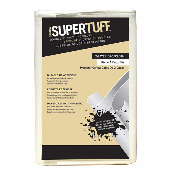SuperTuff 8' x 12' Double Guard Drop Cloth - Clearance