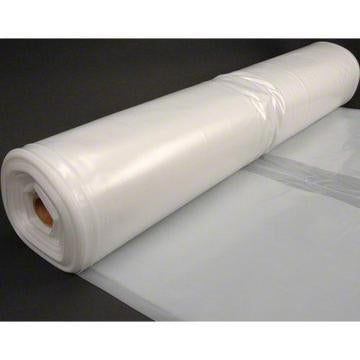 Husky 32' x 100' 6 MIL Clear Plastic Sheeting - Translucent Natural Gray