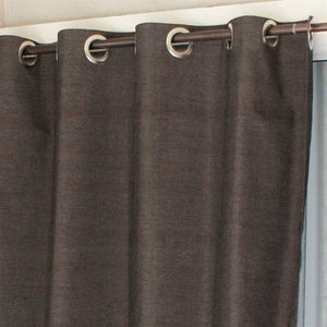 "Coolaroo Exterior Designer Outdoor Curtain - 60"" x 84"" - Portobello - Grommet Top - 471774"