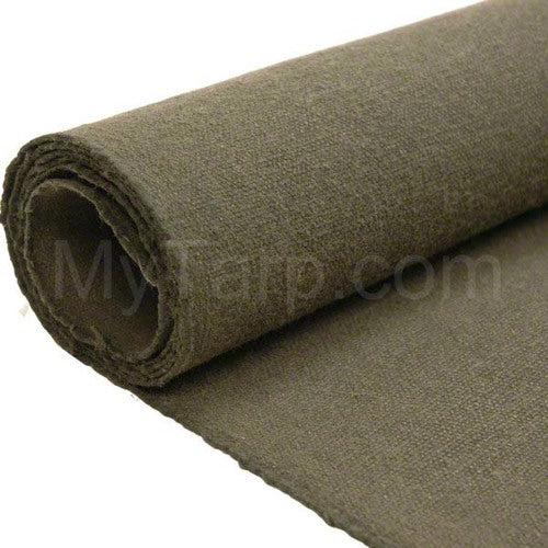 Flame Retardant Cotton Canvas Fabric 15 OZ - Water Resistant Treated