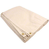4' x 15' Canvas Drop Cloth With Grommets - Painters Tarp Drop Cloth - 10 oz Natural Cotton - Made in USA