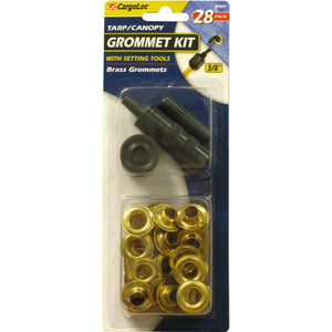 CargoLoc Grommet Tool Kit with Brass Plated Steel Grommets