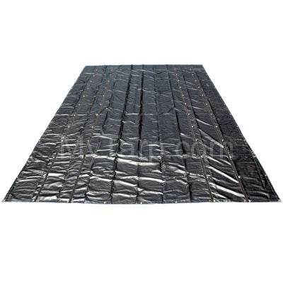 Sigman Steel Tarp 25' x 16' 18 Oz Black Vinyl Coated Polyester - D-Rings 4 Sides - Black