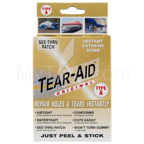 Tear-Aid Fabric Repair Patch - Clear - Type A - For Fabrics Other Than Vinyl