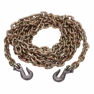 "Kinedyne 3/8"" x 16' Chain with Grab Hook - Grade 70 Alloy Steel - 10038-16"