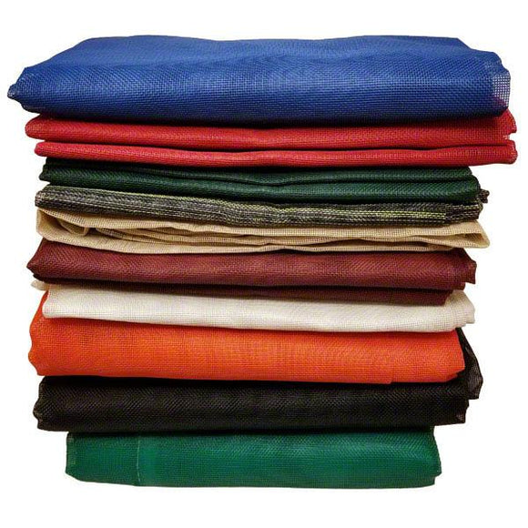 5' x 7' Flame Retardant Vinyl Coated Mesh Tarp - Made in USA