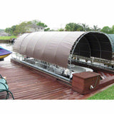 12' x 24' Boat Dock Cover Tarp - 18 oz Vinyl Coated Polyester - Grommet Every 1 ft - Made in USA