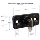 Stayput Toggle Tarp Fastener - 10-Pack