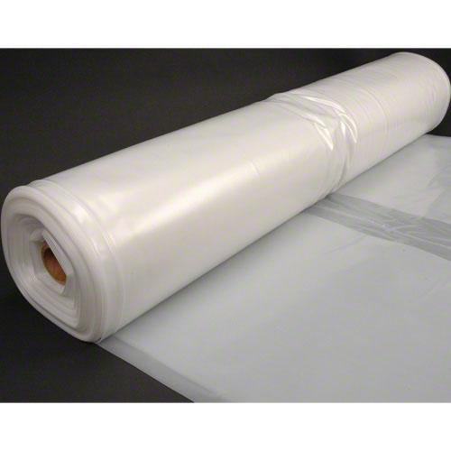 Husky 40' x 100' 4 MIL Clear Plastic Sheeting - Translucent Natural Gray