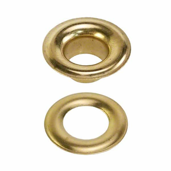 Brass Grommets - Sheet Metal Grommets with Plain Washers