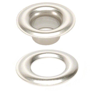 Stainless Steel Grommets - Plain with Washers - 304 Stainless Steel