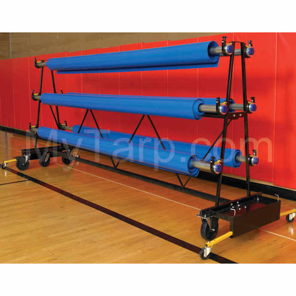 Gym Floor Cover Rack - Premium Mobile Storage