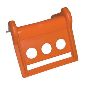 "Kinedyne 4"" Plastic Edge Protector, Orange - 37025"
