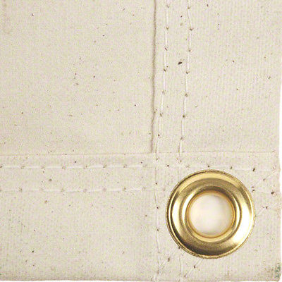 Sigman 10' x 10' White Cotton Canvas Tarp - 16 OZ - Made in USA