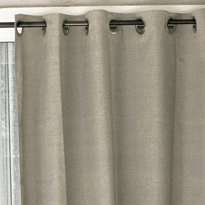 "Coolaroo Exterior Designer Outdoor Curtain - 60"" x 96"" - Dark Linen - Grommet Top - 471804"