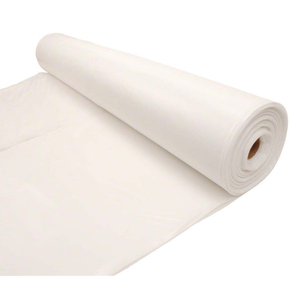 Husky 12' x 100' 4 MIL Flame Retardant Plastic Sheeting - Off White