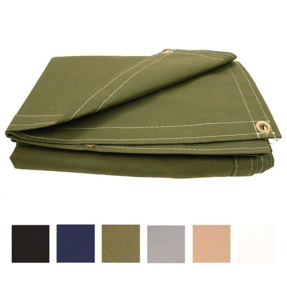 Polyester Canvas Tarp - Made in USA - Clearance Sale