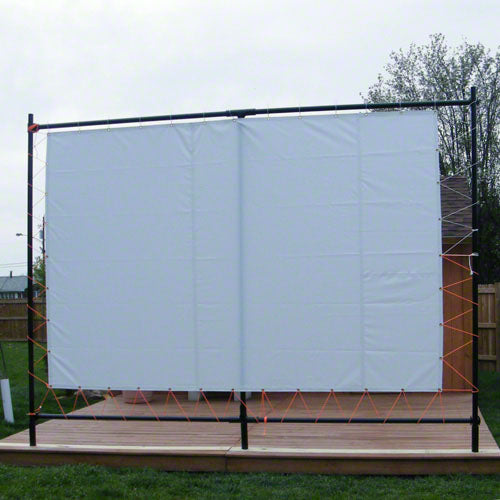8' x 12' Outdoor Movie Screen Tarp - 16 oz Block Out Vinyl - White Color - Tarp Only - Frames Not Included