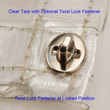 Twist Lock Fastener - Two Screw Mount - Double Stud Length - 10-Pack