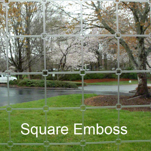 Clear Vinyl Fabric 20 MIL - Square Emboss - 54