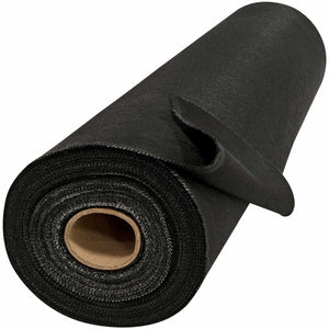 "60"" x 50 Yard Welding Blanket Roll - 26 oz Black Vermiculite Coated Fiberglass"