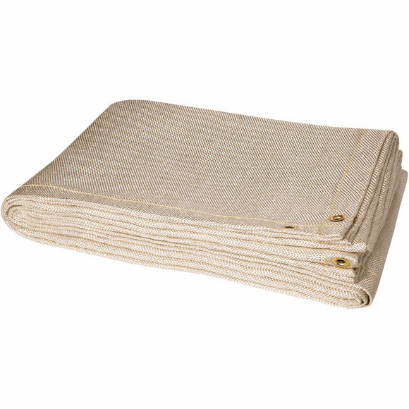 6' x 8' Welding Blanket - 24 oz Heat Cleaned Fiberglass - Tan
