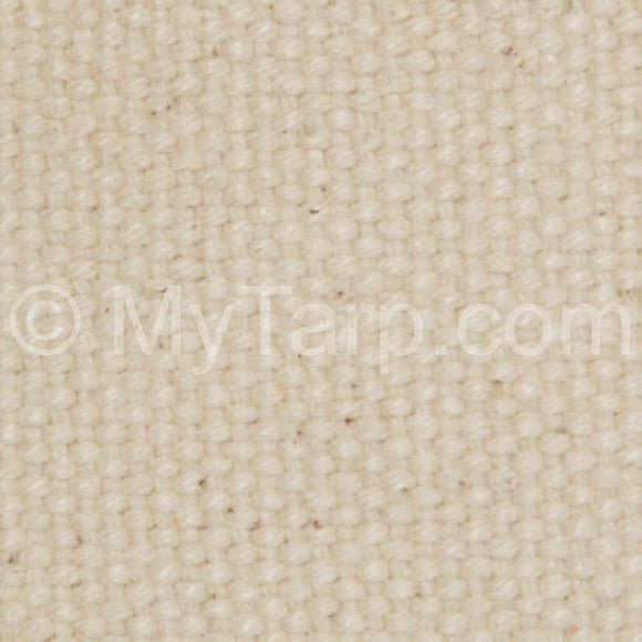 #4 Natural Cotton Duck Canvas Fabric - Sample Swatch